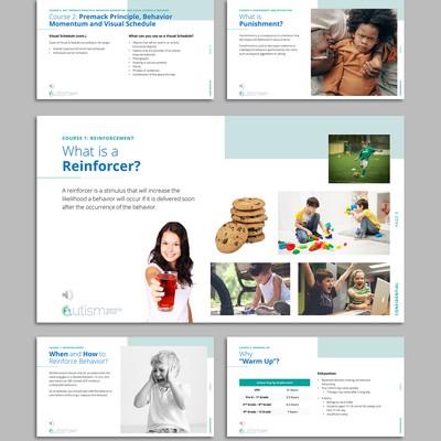 Presentation design for a therapy company