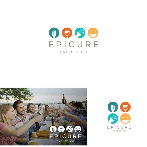 Event planning design with the title 'modern logo for restaurants events'