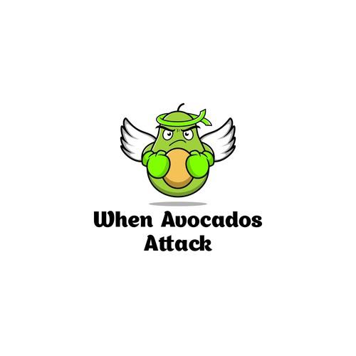 Avocado logo with the title 'when avocados attack'