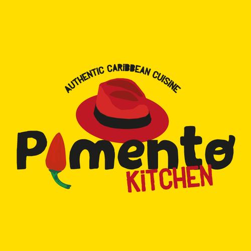 Chili pepper design with the title 'Pimento Kitchen'