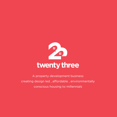 Architect logo with the title 'twenty three'