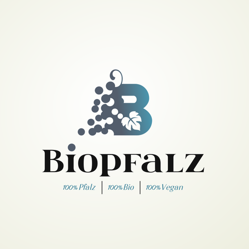 Vine logo with the title 'Biopfalz'