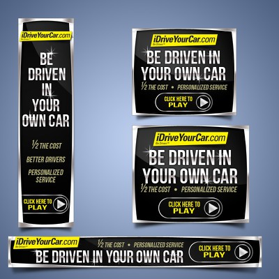 Create banner ad for iDriveYourCar for grand prize & possible freelance contract with http://www.iDriveYourCar.com