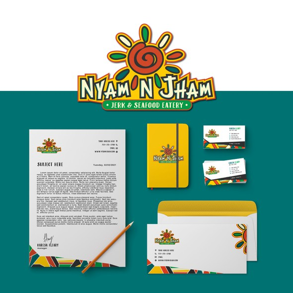 Jamaican design with the title 'Nyam'N'Jham'