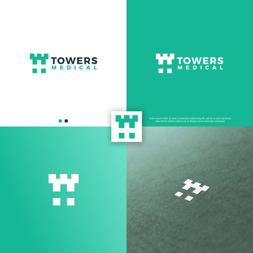 Skyscraper logo with the title 'Towers Medical'