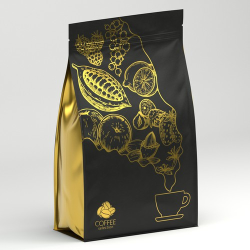 Blossom design with the title 'Coffee bag'