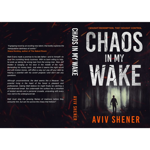 Mysterious design with the title 'CHAOS IN MY WAKE'