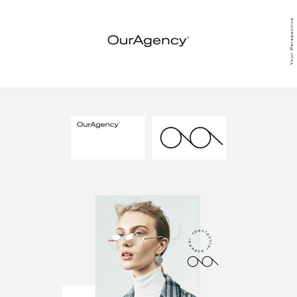 Modernist design with the title 'Logo Design Visual Identity For Sun Glass Brand'