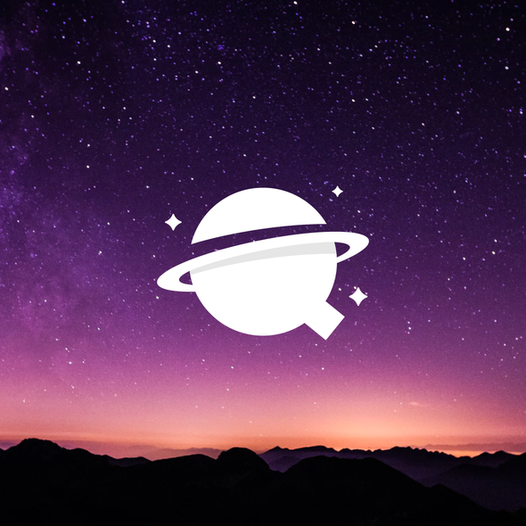 Telescope logo with the title 'Q + Planet 2'