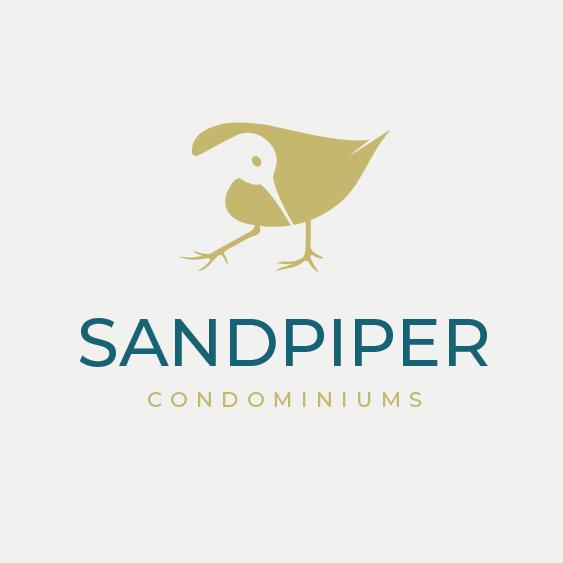 Condominium design with the title 'Sandpiper Condominiums'