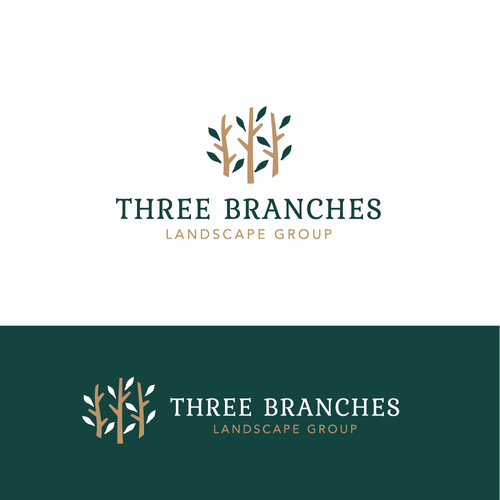 Branch design with the title 'Logo for landscape group'