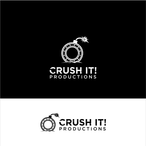 Filmstrip logo with the title 'crush it'