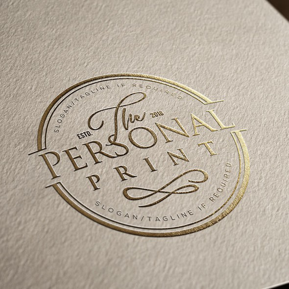 Printing logo with the title 'Logo for The Personal Print'