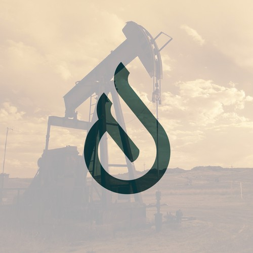 Oil and gas logo with the title 'drop monogram'