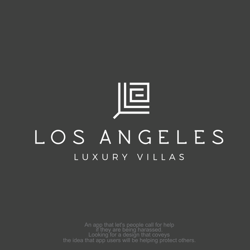 Los Angeles logo with the title 'Logo for villas based in Los Angeles'
