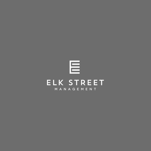 High-end brand with the title 'Logo for creative, urban, enthusiastic real estate investment firm: www.elkstreetmgmt.com '