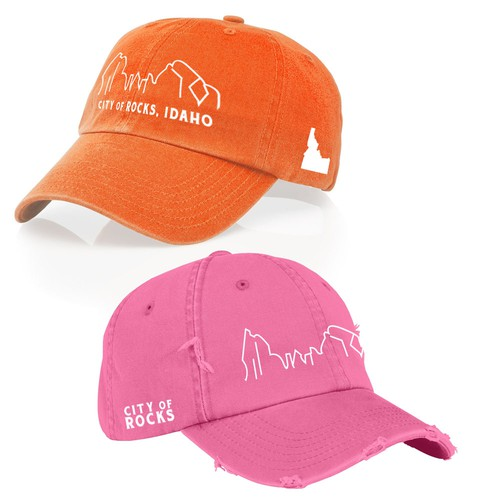 Souvenir design with the title 'Embroidery Hat Design for Outdoor Tourism'