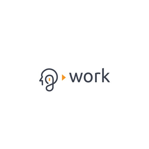 Lock logo with the title 'Logo for G work'