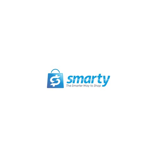Paper bag logo with the title 'Bold logo concept for smarty.'