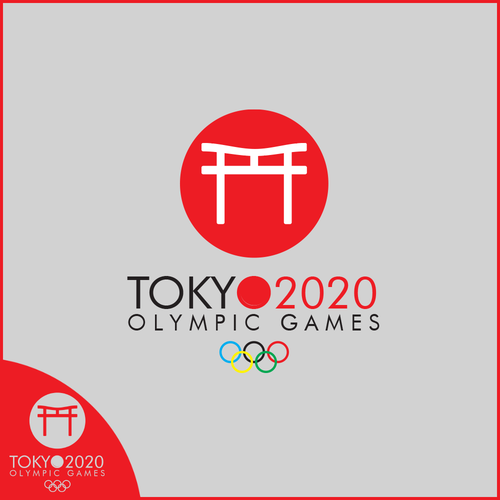 Olympic logo with the title 'Logo design for Tokyo 2020'