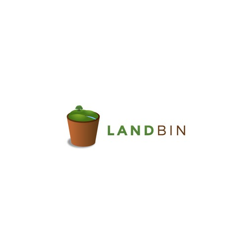 Hill design with the title 'Logo for Land Bin'
