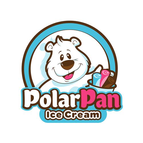 Cream logo with the title 'Polar Pan Ice Cream Rolls'