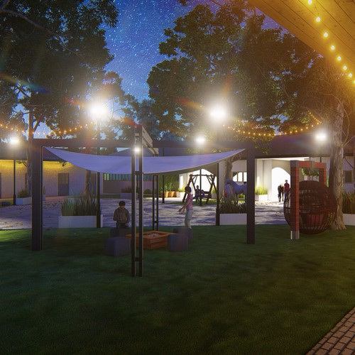 Venue design with the title 'Venue foe event with Stables'