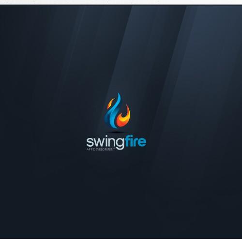 Blaze logo with the title 'Design logo for Swingfire - An app development company!'