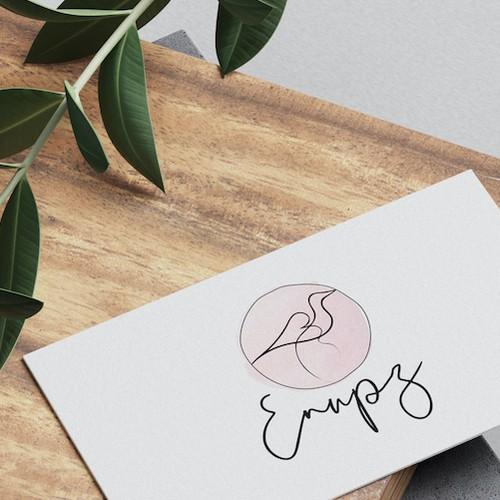 Wedding invitiation logo with the title 'Wedding company logo'
