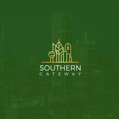 City logo with the title 'Southern gateway'