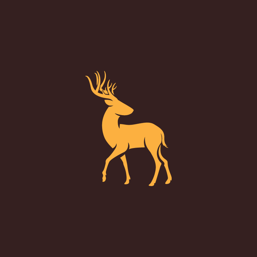 Antler design with the title 'outdoor logo'