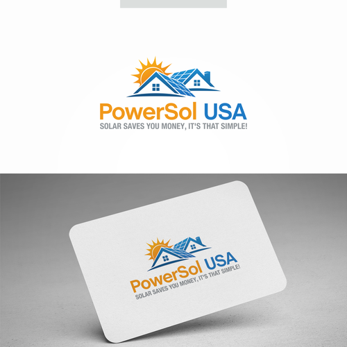 Solar company logo with the title 'PowerSol USA'