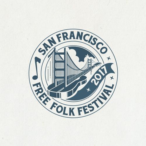 San Francisco design with the title 'San Francisco Free Folk Festival Logo'