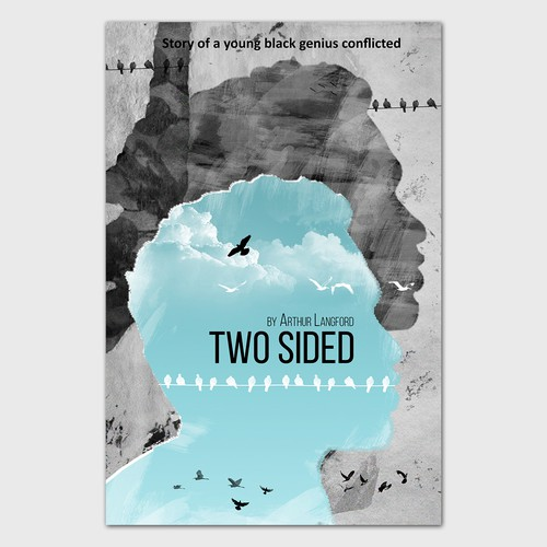 Two design with the title 'Book cover Two Sided'