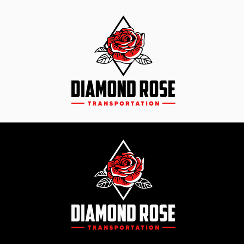 Logo with the title 'Diamond Rose Logo Design'