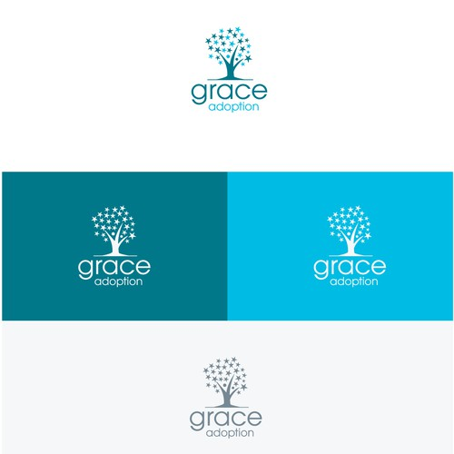 Partnership logo with the title 'Grace Adoption community based .'