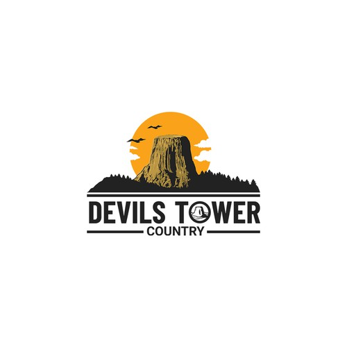 Monument logo with the title 'logo monument devils tower'
