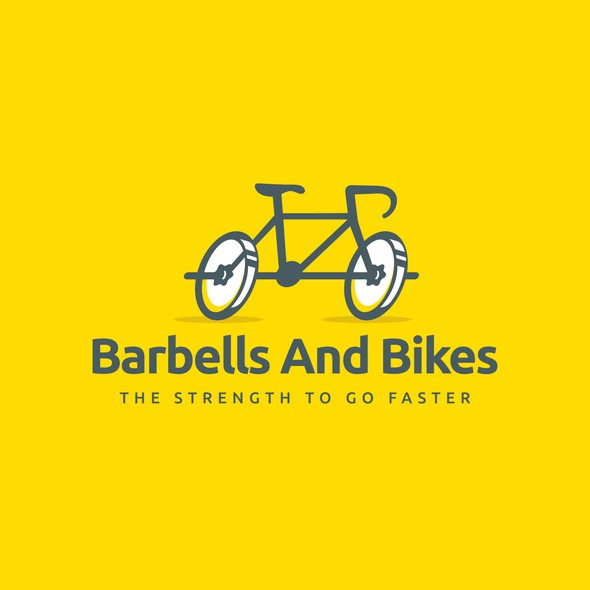 Gym design with the title 'Barbells & Bikes'