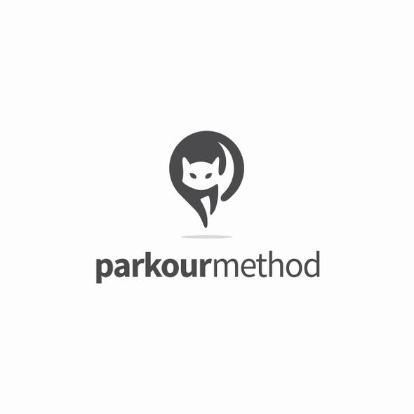 Location design with the title 'parkourmethod Logo Design Proposal'