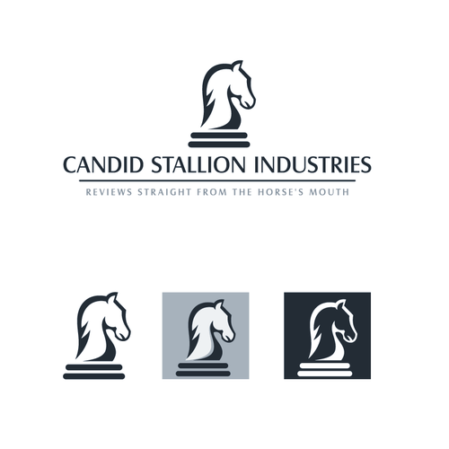 Cheese design with the title 'Candid Stallion logo'