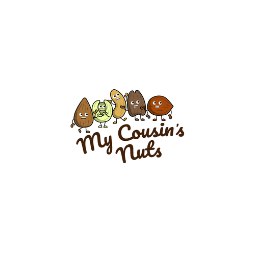 Peanut logo with the title 'My Cousin's Nuts - Snack Logo'