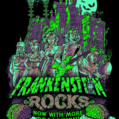 Frankenstein Rocks tee-shirt design.