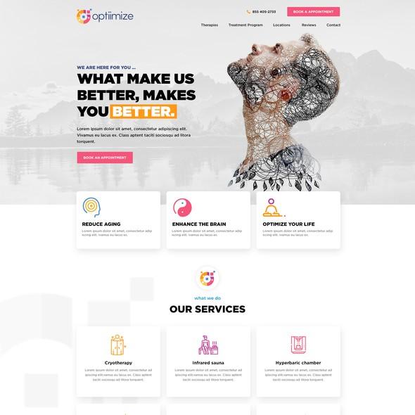 Wellness website with the title 'Longevity and wellness website design'