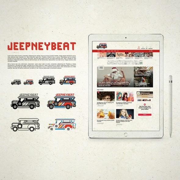 Pixel art design with the title 'Jeepney Beat Pixel Design'