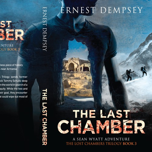 Action design with the title 'The Lost Chambers Trilogy Book 3'