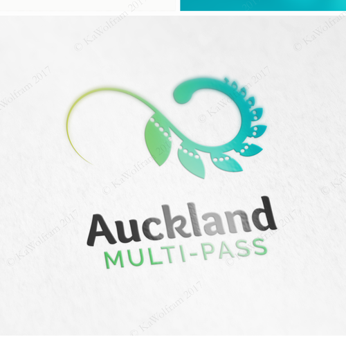 Ticket design with the title 'logo for multi-ticket service in New Zealand'