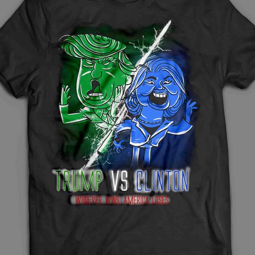 Trump t-shirt with the title 'trump vs clintton'