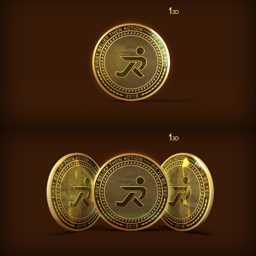Token design with the title 'Run2Play 3D Coin'