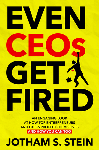 Boss design with the title 'Even CEOs Get Fired Book Cover'
