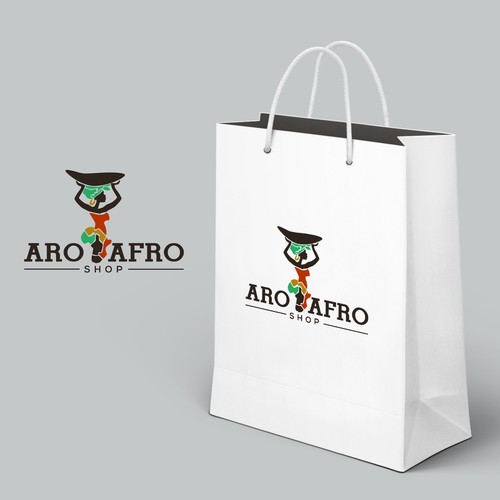 African logo with the title 'Africa Shop gets its online Shop and becomes a luxury brand! Be part of this amazing step further!'